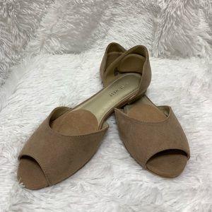 Nine West peep toe flats 6.5 womens